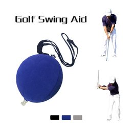 golf swing mats 2019 - Golf Smart Inflatable Ball Golf Swing Trainer Aid Assist Adjustable Posture Correction Supplies Practice Tools cheap gol