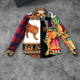 6401a4b9 Zara online shopping - 2019 Fashion Luxury Designer Europe Italy Court  Leopard Plaid Shirt Mens Clothing
