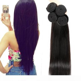 dhgate virgin human hair Canada - A On Sale Unprocessed Virgin Human Hair Weaves Natural Black Straight Dhgate Vendor Best Selling Items Malaysian Indian Peruvian Cambod