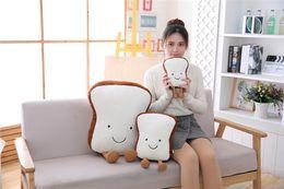 $enCountryForm.capitalKeyWord Australia - 20170614 New Creative Cartoon Bread Toast Pillow Cushion Of The Sofa Food Plush Toys Doll Gifts For Children