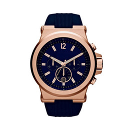 New pvd watch online shopping - 48mm Dylan Chronograph Navy Dial Mens Watch PVD Rose Plated Wristwatch Quartz Wrist watch Christmas Gift
