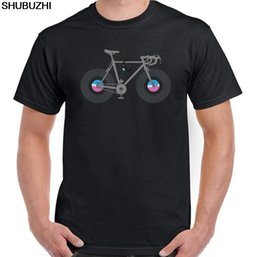 $enCountryForm.capitalKeyWord NZ - Cycling Funny Bicycle T-Shirt Cyclist Vinyl Records Bike Mtb Bmx Road shubuzhi New Men T-Shirt Men Summer Style Casual Tee