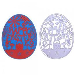 Embossing diE online shopping - Easter Egg DIY Metal Cutting Dies Scrapbooking Ornate Steel Craft Dies Cuts Create Stamps Embossing Paper Stencil IIA192