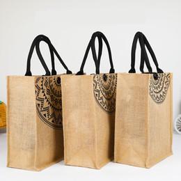 Big Ladies Handbags Australia - 3 Size Summer Shoulder Bag Big Tote Women Ladies Handbag canvas Burlap beach bags large size travel