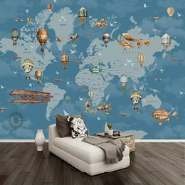 $enCountryForm.capitalKeyWord NZ - Custom Any Size Mural Wallpaper 3D Cartoon World Map Background Wall Painting Kids Bedroom Living Room Papel De Parede 3D Fresco