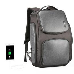 Fast Backpack Canada - Kingsons Upgraded Solar Backpack Fast USB Charging Backpack 15.6 inches Laptop Backpacks Men Travel Bag Cool