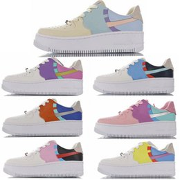 candies shoes for women NZ - 2020 WMN Forced Sage Low LX Light Aqua Running Shoes For Women 1 Candy Macaron Shadow Platinum Tint Dunk Basketball Court Sport Sneakers s03