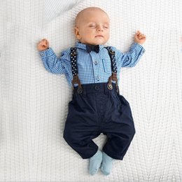 Gentleman Romper Jumpsuit Australia - New Born Baby Boy Clothes Bow Tie Baby Girls Clothing Gentleman Infant Costume Toddler Jumpsuits Ropa Bebes 2018 Baby Boy Romper J190524
