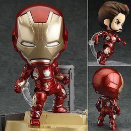 $enCountryForm.capitalKeyWord Australia - Action model figure Iron Man mark 545 Nendoroid cute cartoon collection PVC hero version Movable toy gift