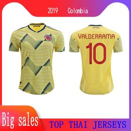 falcao jersey colombia NZ - 2019 Colombia Soccer Jersey Copa America Football Shirt 19 20 JAMES Rodriguez Camiseta De Futbol FALCAO CUADRADO Uniforms