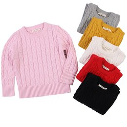 Sweaters Baby Boys Australia - 2019 New Kids Boys Girls Sweater Thick Cotton Sweaters Baby Girls Clothes Spring Autumn Kids Pullovers 1-7Y Children's Clothing