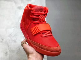 $enCountryForm.capitalKeyWord Australia - 2019 Release Kanye West Air 2 SP SOLAR Red October Glow In The Dark Men Basketball Shoes Sports Sneakers With Original box
