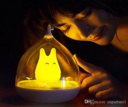 Totoro Art Australia - Newest Design Rechargeable Night Lamp Totoro Cute Portable Touch Sensor USB LED Lights For Baby Bedroom Sleep Lighting Art Decor lighting