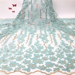 $enCountryForm.capitalKeyWord Australia - Madison Hot Sale Velvet Lace Fabric with Flower Latest Nigerian Guipure Lace Material African Tulle Lace Fabric for Party Dress