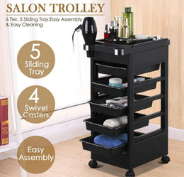 Salon Hairdresser Barber Beauty Storage Trolley Hair Drawers Colouring Cart Spa on Sale