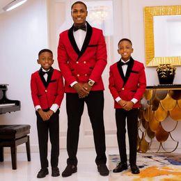 $enCountryForm.capitalKeyWord Australia - Red Men Suits Wedding Suits Man Blazers Boy Clothing Child Suits Groom Tuxedo 2Piece White Coat Black Trousers Latest Designs Costume Homme
