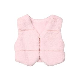 top winter baby girl year 2019 - Focusnorm Fashion 0-3 Years Toddler Baby Kids Girls Winter Warm Faux Fur Vest Waistcoat Tops Pink Outwear Jackets cheap