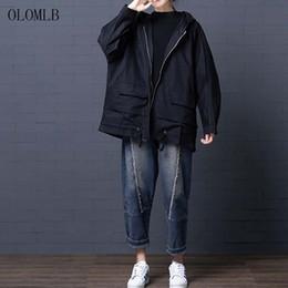 $enCountryForm.capitalKeyWord Australia - korean plus size womens long loose zipper streetwear coats female jacket coats and jackets women 2019 Autumn And Winter new 6XL