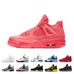 $enCountryForm.capitalKeyWord NZ - 2019 New 4S Bred What The Basketball Shoes 30th Anniversary Laser Silt Red Splatter Singles Day Lightning Pure Money Oreo Men 4 Sneakers