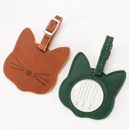 label board Australia - Lovely Cat Suitcase Bag Tag Name Address Holder Baggage ID Label Boarding Tag Portable Label Bag Travel Accessories