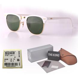 $enCountryForm.capitalKeyWord NZ - 16 Colors Choose Brand Designer Cat Eye Sunglasses Men Women Semi Rimless Sun Glasses plank frame ( glass lenses ) With Retail box and label