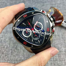 55mm Watches Australia - New Luxury Watch Six stitches Multifunction Chronograph Quartz Sapphire Stainless Steel Case calfskin strap Solid Case Back Mens Watch 55mm