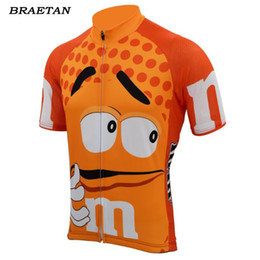 style jerseys NZ - orange men cycling jersey short sleeve bike clothing team style funny cycling wear jersey bicycle clothes braetan