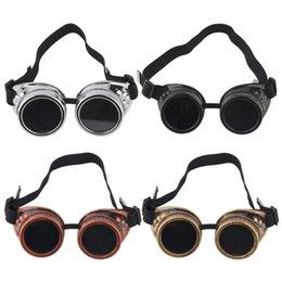 $enCountryForm.capitalKeyWord Australia - Goggles Steam punk Glasses Vintage Retro Welding Punk Victorian for bike free shipping