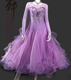 bc198669a1fb Ballroom Dance Dress For Women High Quality Competition Dresses Modern  Waltz Tango Standard Ballroom Costume pink purple MD1123