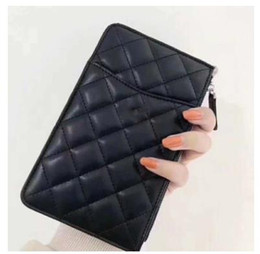 Leather fiLe bags online shopping - 2019 High Quality Brand Quilted Clutch bags Lady Womens leather Bags Card package mobile phone bag coin purse Fashion wallet for woman