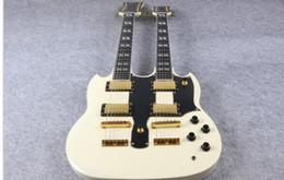 Venta al por mayor de Doble cuello guitarra eléctrica 1275 modelo crema acabado para la venta envío gratis