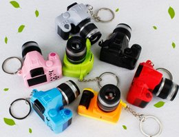 amazing keychains UK - Free Shipping Hot Camera Led Keychains With Sound LED Flashlight Key chain Fancy toy Key Ring Amazing gift
