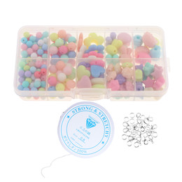 $enCountryForm.capitalKeyWord Australia - 250 Pieces Cute Candy Color Acrylic Loose Beads Kids Creative DIY Jewelry Kit for Girls Necklace and Bracelet Art Crafts Toys
