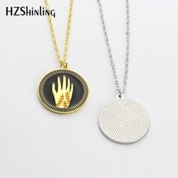 Friendship Chains Australia - 2019 NEW Silver Plated Hamsa Hand Necklace Reaching Hands Enamel Pendant Necklace Friendship Jewelry Kindness Pendants Silver Gold Chain for