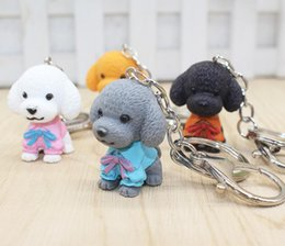For Alloys Australia - 20 Pcs Gray White Multi-Color Mixture Pvc Teddy Dog Pendant Alloy Keychain Keyring For Women Men Decorative Bag Key Jeweley Gift