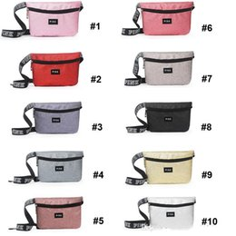 Wholesale Pillow Packs Australia - 10 Colors Pink Letter Printed Fanny Pack Beach Travel Cosmetics Shoulder Bag Pink Waist Bag PINK Chest Bags Waistpacks