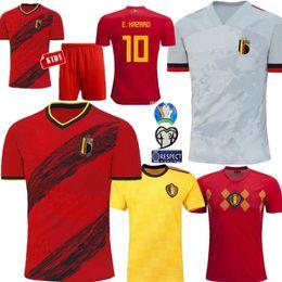 Kids world soccer jerseys online shopping - Men kids Belgium soccer jersey Home away LUKAKU HAZARD KOMPANY DE BRUYNE MERTENS football jerseys World cup camisa de futebol