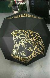Vintage umbrella black online shopping - Design Medusa Black Metal Umbrella Umbrella Classic Women AutomaticLuxury Vintage logo Umbrellas With Gift Box