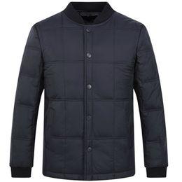 Wholesale army navy coat resale online - Mens Autumn Winter Duck Down Jacket Ultra light Men Coat Down Parkas Fashion Mens Outerwear Thin Coat Plus Size Navy Blue Green