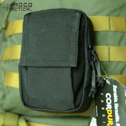 Military Style Packs Australia - ROCOTACTICAL EDC Military Outdoor Sports Waist Bag Cordura Nylon US Army Running Packs MOLLE Military Style Sport Pouch Case #138263