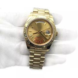 Best Male Wrist Watch Australia - Best 18K Gold President Day-Date Sapphire Cystal Geneva Men Watches Automatic Mechanical Movement Male Wrist Watch Relo Reloj