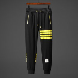 $enCountryForm.capitalKeyWord NZ - 2019 new hot men and women models spring and autumn cotton yellow striped printing temperament personality fashion couple pants