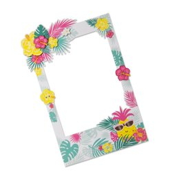 birthday party photo booth props UK - Hawaiian Party Decorations 41x66cm BIG Photo Booth Props Pineapple For Wedding Birthday Party Beach Pool Luau Summer Decorations