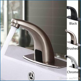 Bathroom Fixtures Turntable Wall Mounted Automatic Sensor Kitchen Faucet Single Cold Water Sense Faucets Basin Hand Washer