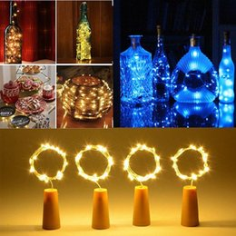 $enCountryForm.capitalKeyWord NZ - Copper String Lights, 2pcs Copper wire lights in 2 m 20 LED wine bottle lights, Firefly Light, Wedding Lights