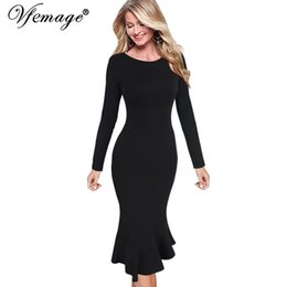 6c09fe4aa996 Vfemage Womens Elegant Vintage Autumn Mermaid Pinup Wear To Work Office  Business Casual Party Fitted Bodycon Dress 2158 Y190427
