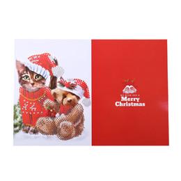 $enCountryForm.capitalKeyWord Australia - 5d Diy Special-shape Diamond Painting Xmas Tree Santa Claus Christmas Greeting Cards Gift Cross Stitch Embroidery Mosaic #15