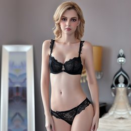 $enCountryForm.capitalKeyWord NZ - New product explosion models ultra-thin large size sexy perspective lace bow with rim underwear bra suit women