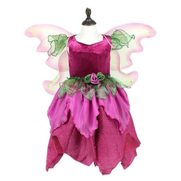 100%real children girl wine red fairy tutu dress with wing stage stuido  queen princess cos girl on Sale