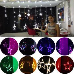 $enCountryForm.capitalKeyWord NZ - 2.5M Christmas led lights AC 110V 220V 8 Modes Romantic Fairy Star LED Curtain String Lighting Strip Holiday Wedding Party Decoration